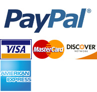 Pay conveniently and securely via PayPal with credit card.