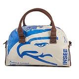elephbo bolso Saco de cemento reciclado de plástico tejido Cuero Algodón Águila Pájaro Ave