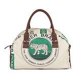 elephbo bolso Saco de cemento reciclado de plástico tejido Cuero Algodón Tigre león leopardo