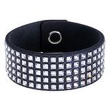 Bracelet Cristal Swarovski Alcantara Acier inoxydable Laiton