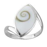 Silberring Silber 925 Shiva´s Eye Muschel Spirale