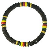 Surfer-Armband Kokosnussholz Jamaica Reggae