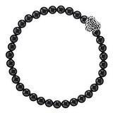 Bracelet Onyx noir Acier inoxydable Coeur C?ur Amour