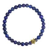 Bracelet Acier inoxydable Revêtement PVD (couleur or) Lapis-lazuli Étoile