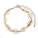 Bracelet Coquillage Revêtement PVD (couleur or) Nylon Laiton
