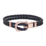 PAUL HEWITT Bracelet de plage Cuir Acier inoxydable Revêtement PVD (couleur or)