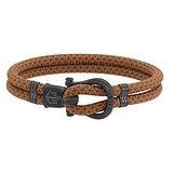 PAUL HEWITT Geknüpftes Armband Nylon Edelstahl PVD Beschichtung (schwarz) Anker Seil Schiff