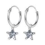 Pendientes niños Plata 925 Circonita Estrella