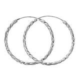 Creolen Silber 925 Spirale Ewig Schlaufe Endlos