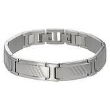Armband Edelstahl Streifen Rillen Linien
