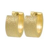 Breite Ohrringe Edelstahl PVD Beschichtung (goldfarbig)