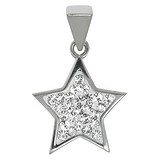 Pendentif Acier inoxydable Cristal Étoile