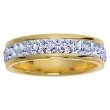 Anello acciaio inox Acciaio inox Rivestimento PVD (colore oro) Cristallo Swarovski