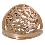 Anello acciaio inox Acciaio inox Rivestimento PVD (colore oro) Cristallo Swarovski Foglia Disegno_floreale