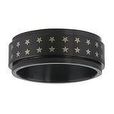 Edelstahlring Edelstahl PVD Beschichtung (schwarz) Stern