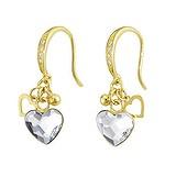 Ohrhänger Silber 925 Gold-Beschichtung (vergoldet) Swarovski Kristall Herz Liebe