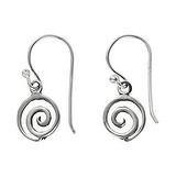 Ohrhänger Silber 925 Spirale