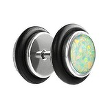 Fake-Plug Metallo chirurgico 316L Synthetic opal PVC