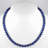 Chaîne de pierres Acier inoxydable Lapis-lazuli