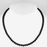 Chaîne de pierres Acier inoxydable Onyx noir