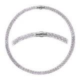 Perlen-Halskette Edelstahl Kristall