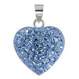 Silber-Anhänger Silber 925 Kristall Herz Liebe