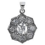 Silber-Anhänger Silber 925 Blume