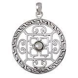 Silber-Anhänger Silber 925 Kreuz Tribal_Zeichnung Tribal_Muster