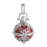 Silber-Anhänger Silber 925 Messing mit Stahlbeschichtung Email Herz Liebe Tribal_Zeichnung Tribal_Muster Engel