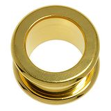 Plug Chirurgenstahl 316L PVD Beschichtung (goldfarbig)