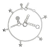 Silber-Armkettchen Länge:18-20,5cm. Gewicht:3,3g. Länge verstellbar. Silber 925 Stern