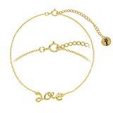 Bracelet fin Argent 925 Revêtement d´or (doré) Love Amour
