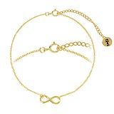 Bracelet fin Argent 925 Revêtement d´or (doré) Éternel Dragonne Infini