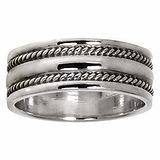 Fingerring Silber 925 Tribal_Zeichnung Tribal_Muster Streifen Rillen Linien