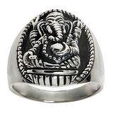 Anello Argento 925 Ganesha Elefante