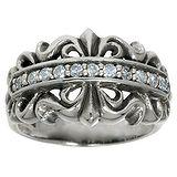 Fingerring Silber 925 Zirkonia Blume Tribal_Zeichnung Tribal_Muster