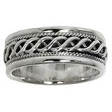 Fingerring Silber 925 Ewig Schlaufe Endlos Tribal_Zeichnung Tribal_Muster Streifen Rillen Linien