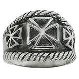 Fingerring Silber 925 Kreuz Tribal_Zeichnung Tribal_Muster