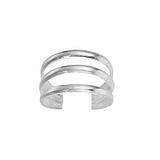 Zehenring Silber 925 Spirale Streifen Rillen Linien