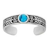 Bague de doigt de pied Argent 925 Turquoise Dessin_tribal Motif_tribal