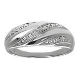 Fingerring Silber 925 Zirkonia Welle Streifen Rillen Linien