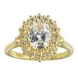 Bague de doigt Argent 925 Revêtement d´or (doré) Zircon