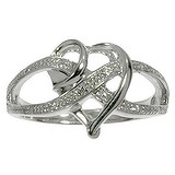 Bague de doigt Zircon Argent 925 rhodié Coeur C?ur Amour Éternel Dragonne Infini Love Amour