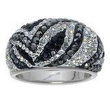 Fingerring Silber 925 Kristall Blatt Pflanzenmuster Florales_Muster
