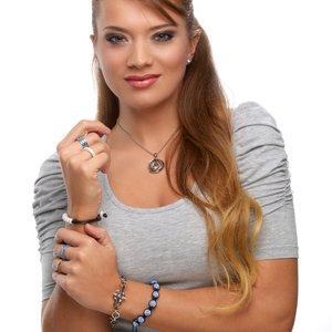 Armband Edelstahl Kristall Herz Liebe Kreuz