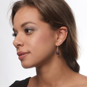 Ear piercing Surgical Steel 316L silver-plated brass Crystal Drop drop-shape waterdrop