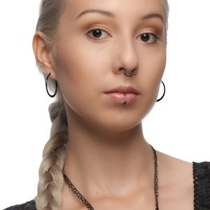 Nose ring Surgical Steel 316L Black PVD-coating