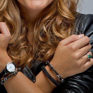 Bracelet Cuir Acier inoxydable Croix
