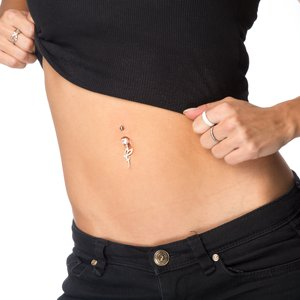 Bellypiercing Surgical Steel 316L Silver 925 zirconia Fairy Wings