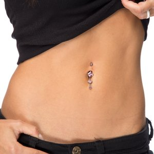Bellypiercing Surgical Steel 316L Swarovski crystal